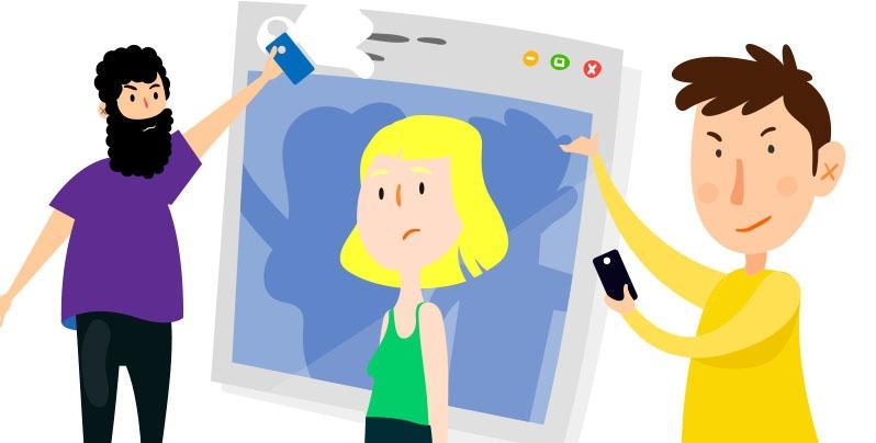 Acoso digital a la mujer